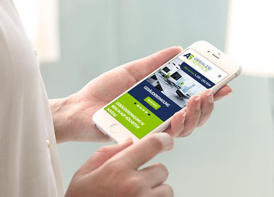 Mobile-friendly Webdesign Darstellung