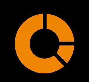 Kreisdiagramm-Icon für SEO-Analyse