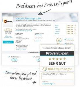 Profilseite & Widget von ProvenExpert