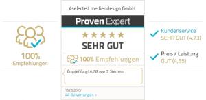 ProvenExpert Kundenbewertungen Bewertungssiegel