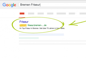Google Screen Bremen Friseur