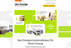 Referenz Webdesign by 4selected für Transportunternehmen