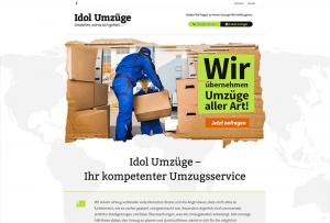 Referenzseite Webdesign Umzugsunternehmen/Umzüge