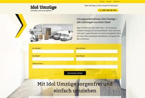 Referenzseite Webdesign Umzugsunternehmen
