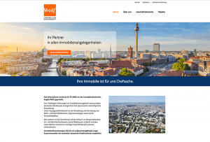 Referenzseite Webdesign Immobilienmanagement