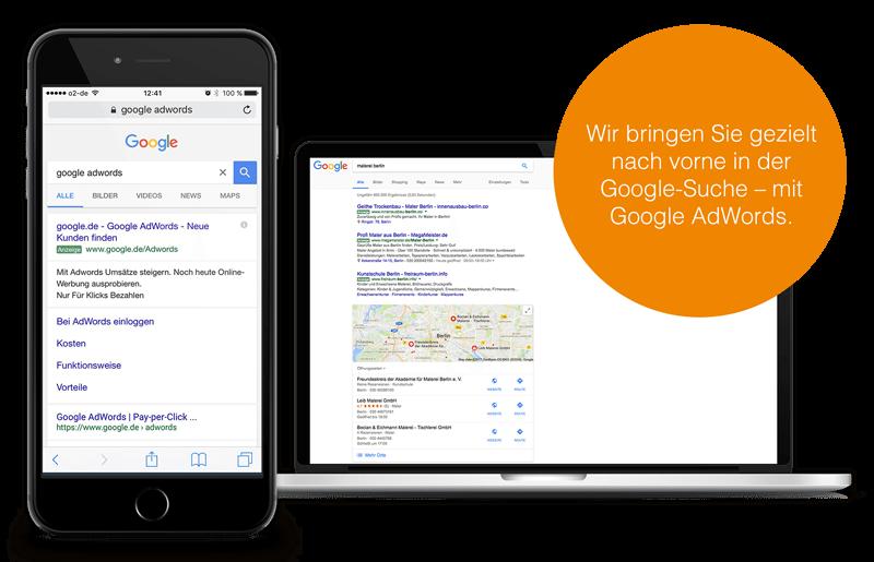 Google AdWords Anwendungsbeispiel