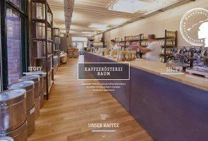 Webdesign und Programmierung für eine Kaffeerösterei, Gastronomie